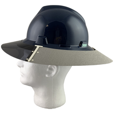 MSA Full Brim V-Guard Hard Hat with Sun Shield - Navy Blue