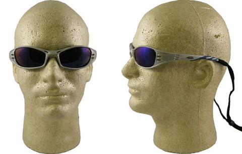 AO Safety #11641 Fuel Safety Eyewear Silver Frame w/ Blue Mirror Lens