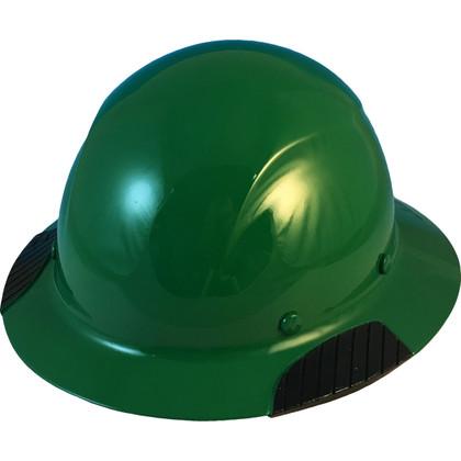 DAX Actual Carbon Fiber Shell Full Brim Hard Hat - Dark Green