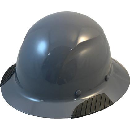 DAX Actual Carbon Fiber Shell Full Brim Hard Hat - Medium Gray