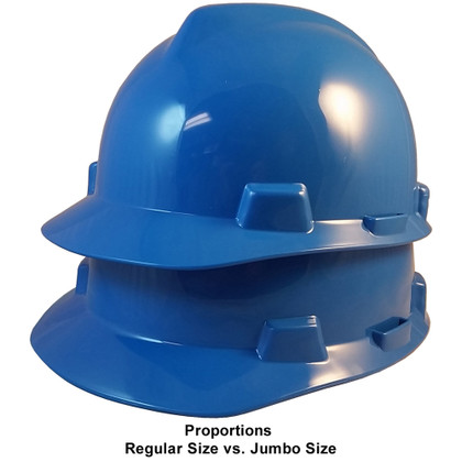 MSA # SO-477483 Cap Style Large Jumbo Safety Helmets with Staz-On Pin Lock Suspension Blue