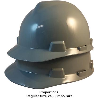 MSA # SO-486152 Cap Style Large Jumbo Safety Helmets with Staz-On Pin Lock Suspension Gray