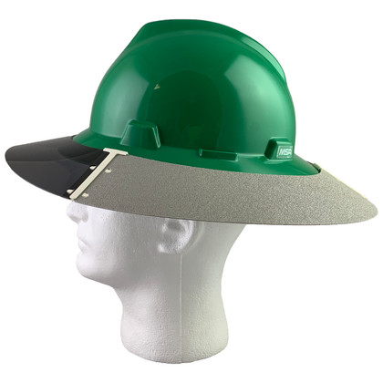 MSA Full Brim V-Guard Hard Hat with Sun Shield - Green