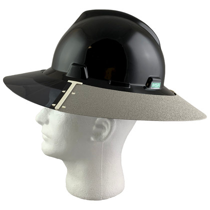 MSA Full Brim V-Guard Hard Hat with Sun Shield - Black