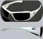 Edge #XB146 Brazeau Safety Eyewear White Frame w/ Smoke Lens