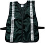 Safety Vest Soft Mesh Dark Green with Silver Stripes