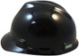 MSA # 400184080 Cap Style Large Jumbo Safety Helmets with Fas-Trac Liners Black
