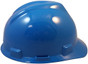 MSA # 477483 Cap Style Large Jumbo Safety Helmets with Fas-Trac Liners Blue