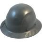 DAX Actual Carbon Fiber Shell Full Brim Hard Hat - Textured Gunmetal Gray