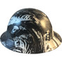 Hydrographic FULL BRIM Hard Hat-Ratchet Suspension - Honor The Fallen  - Left View