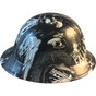 Hydrographic FULL BRIM Hard Hat-Ratchet Suspension - Honor The Fallen  - Right View