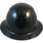 DAX Fiberglass Composite Full Brim Hard Hat - Solid Black