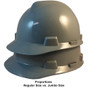 MSA # 486152 Cap Style Large Jumbo Safety Helmets with Fas-Trac Liners Gray