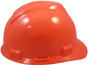 MSA # 486364 Cap Style Large Jumbo Safety Helmets with Fas-Trac Liners Hi-Viz Orange
