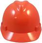 MSA # 486364 Cap Style Large Jumbo Safety Helmets with Fas-Trac Liners Hi-Viz Orange