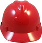 MSA # 476927 Cap Style Large Jumbo Safety Helmets with Fas-Trac Liners Red