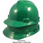 MSA # SO-486151 Cap Style Large Jumbo Safety Helmets with Staz-On Pin Lock Suspension Green