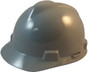 MSA # SO-486152 Cap Style Large Jumbo Safety Helmets with Staz-On Pin Lock Suspension Gray