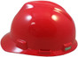 MSA # SO-476927 Cap Style Large Jumbo Safety Helmets with Staz-On Pin Lock Suspension Red