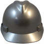 MSA # SO-486154 Cap Style Large Jumbo Safety Helmets with Staz-On Pin Lock Suspension Silver