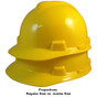 MSA # SO-477484 Cap Style Large Jumbo Safety Helmets with Staz-On Pin Lock Suspension Yellow