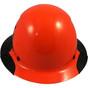 DAX Actual Carbon Fiber Shell Full Brim Hard Hat - Glossy Black and Hi-Viz Orange