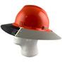 MSA Full Brim V-Guard Hard Hat with Sun Shield - Orange