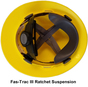 MSA Full Brim V-Guard Hard Hat with Sun Shield - Yellow