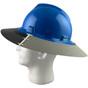MSA Full Brim V-Guard Hard Hat with Sun Shield - Blue