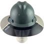 MSA Full Brim V-Guard Hard Hat with Sun Shield - Gray