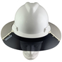 MSA Full Brim V-Guard Hard Hat with Sun Shield - White