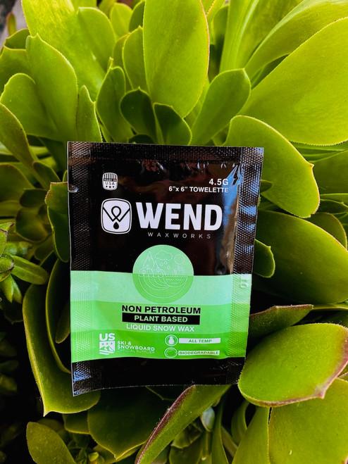 WEND Non-Petroleum Liquid Wax Towelette / 4.5g