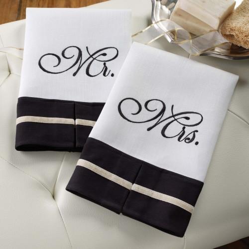 Mr. & Mrs. Linen Towels S/2