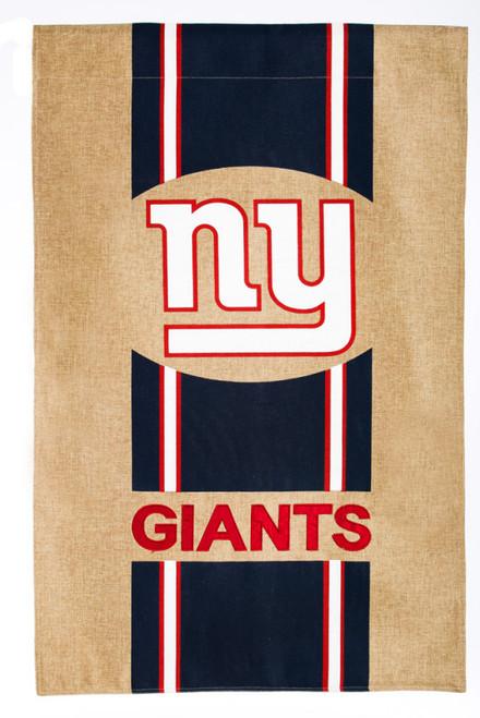 New York Giants Burlap Flag