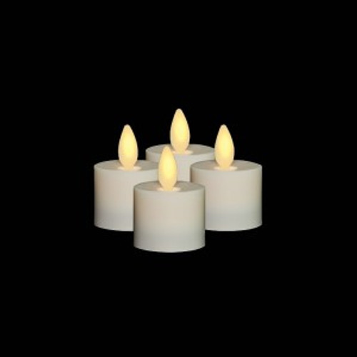Tea Light Candle 4 Pack;Moving Flame Battery