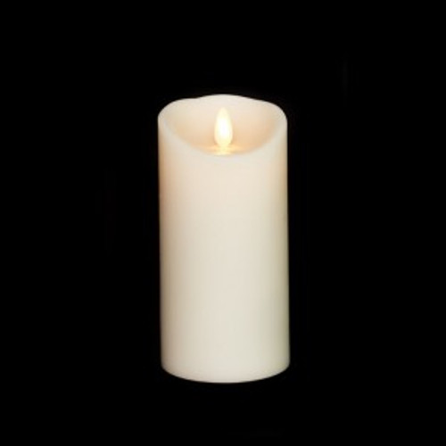 """6"""" Moving Flame Battery Pillar Candle"""