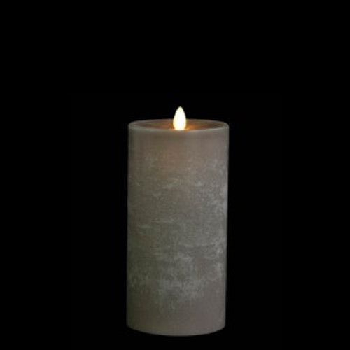 """7"""" Moving Flame Battery Pillar Candle, Chaulk"""