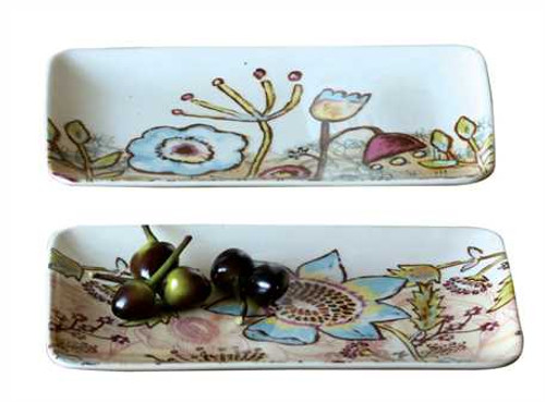 Stoneware Rectangle Plate, 2 Styles