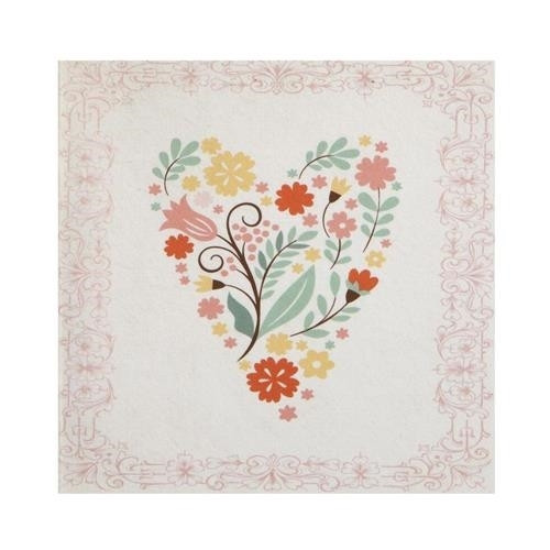 Floral Heart Gift Enclosure Card