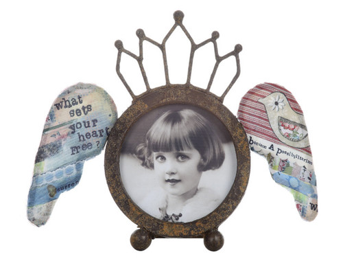 """4"""" Round Frame with Wings"""