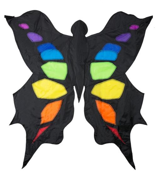 Black & Rainbow Butterfly Kite