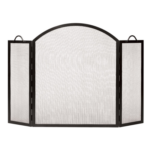 """30"""" x 35"""" Graphite Arched Top Twisted Rope Folding Screen"""