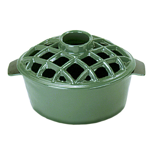 Green Lattice Top Steamer