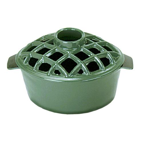 Green Lattice Top Steamer