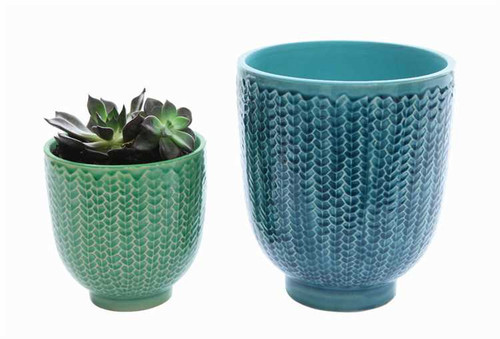 Sequined Plant Holder- Green