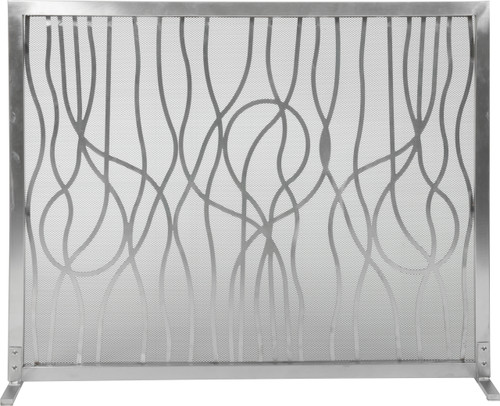 """Stainless Modern Abstract Design Panel Screen 31""""H x 39""""W"""