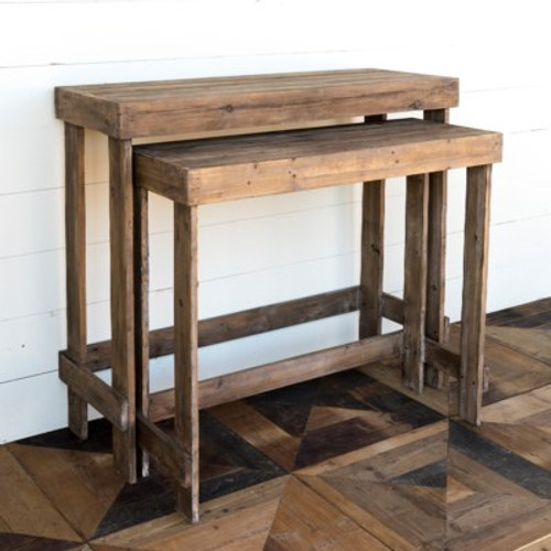 Nesting Wooden Greenhouse Benches Set of 2
