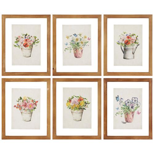 """9.75"""" Floating Floral Framed Print Asst"""