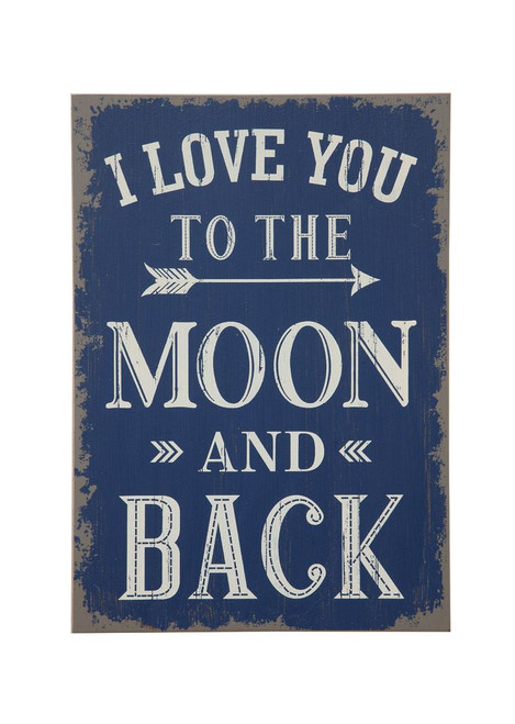 """19""""H """"I Love You to the Moon and Back"""" Wall Décor"""