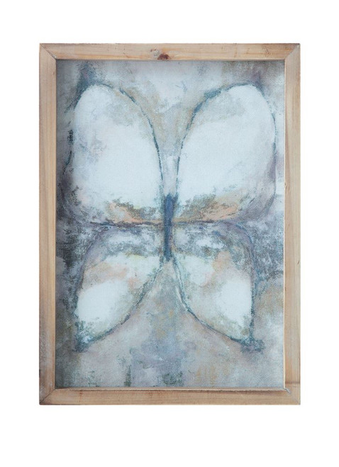 """14""""H Wood Framed Wall Décor with Butterfly"""